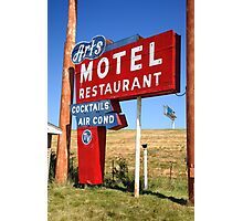 Route 66 - Art's Motel Photographic Print