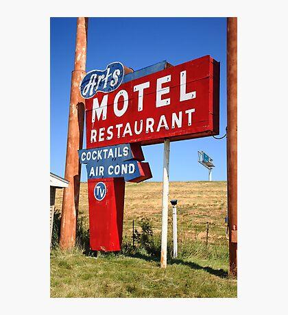 Route 66 - Art's Motel Photographic Print