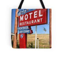 Route 66 - Art's Motel Tote Bag