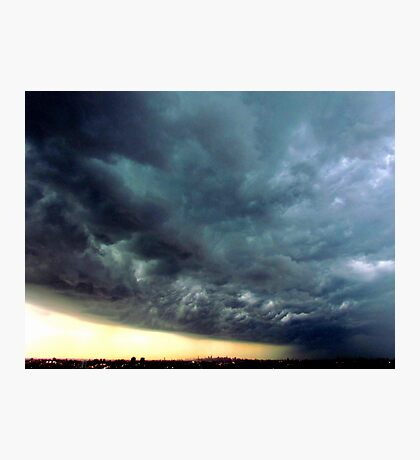 Summer Storm clouds over New York City  Photographic Print