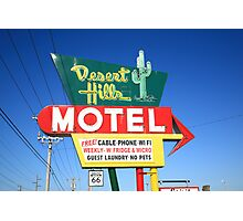 Route 66 - Desert Hills Motel Photographic Print