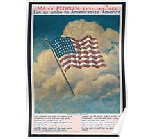 Many peoples one nation Let us unite to Americanize America Poster