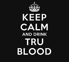 Keep Calm and Drink TruBlood (Dark) Womens Fitted T-Shirt