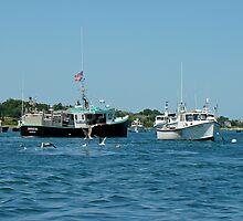 Sleepy Boats at Chatham Harbor - Cape Cod  MA by MotherNature