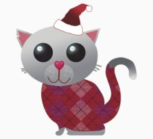 Santa Kitty Kids Tee