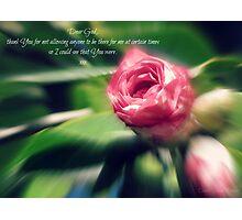 ~ Thank You, God ~ Photographic Print