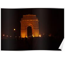 People gathered around India Gate Poster