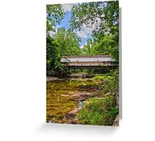 The Green Sergeants Covered Bridge # 2 Greeting Card