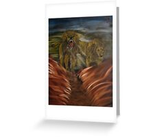 """""""Twin Lions""""  by Carter L. Shepard Greeting Card"""