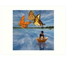 Butterfly Sailing Art Print