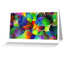 "Colorful Abstract Digital Art-Title"" Fish Tank Greeting Card"