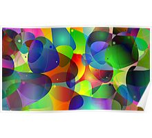 "Colorful Abstract Digital Art-Title"" Fish Tank Poster"