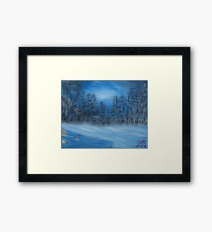 """Winter Scene 4""  by Carter L. Shepard Framed Print"