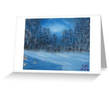 """Winter Scene 4""  by Carter L. Shepard Greeting Card"