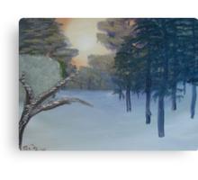 """Winter Scene 3""  by Carter L. Shepard Canvas Print"