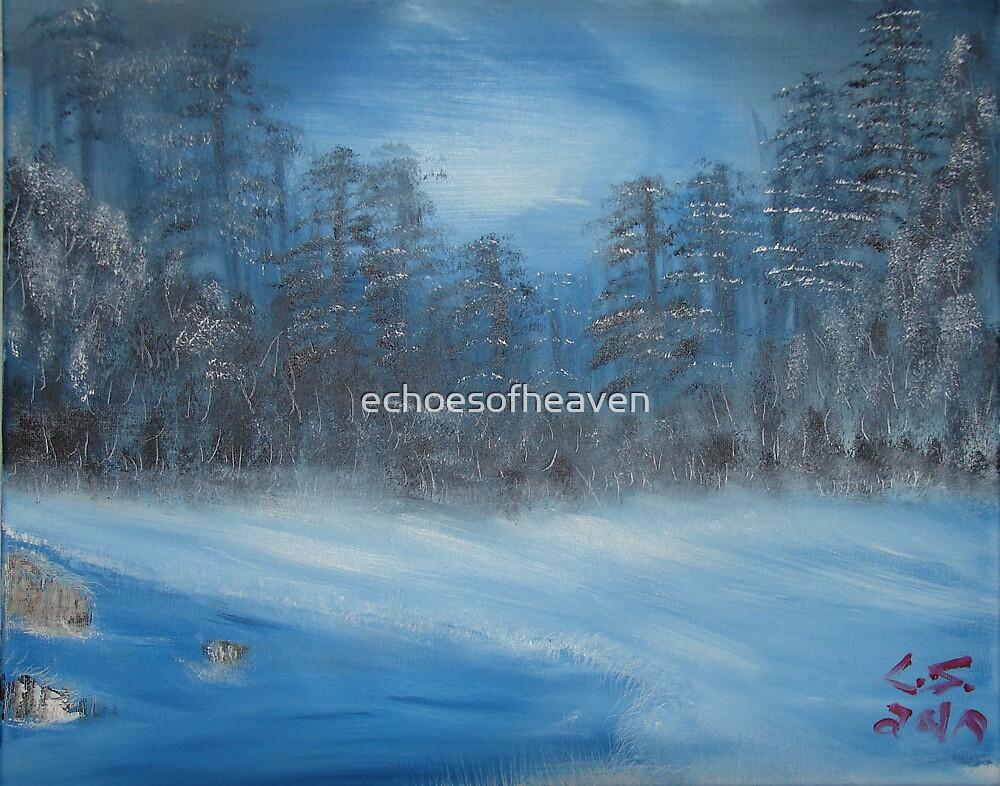 """""""Winter Scene 2""""  by Carter L. Shepard by echoesofheaven"""