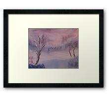 """Winter Scene 1""  by Carter L. Shepard Framed Print"