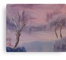 """Winter Scene 1""  by Carter L. Shepard Canvas Print"