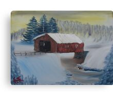"""Winter Bridge""  by Carter L. Shepard Canvas Print"