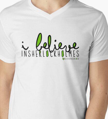 I Believe in Sherlock Holmes. Mens V-Neck T-Shirt