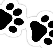 Dog paw prints Sticker