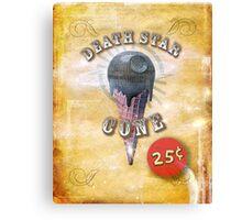 death star cone 25¢ Canvas Print