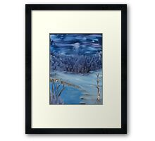 """Quiet Winter Night""  by Carter L. Shepard Framed Print"