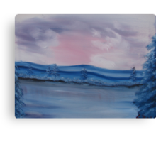 """Pastel Winter""  by Carter L. Shepard Canvas Print"