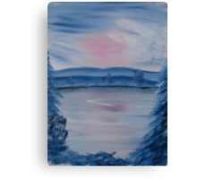 """Pastel Winter 2""  by Carter L. Shepard Canvas Print"