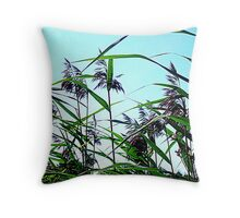 Hay in the summer Throw Pillow