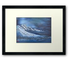 """Night Time Snow""  by Carter L. Shepard Framed Print"