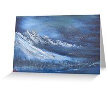 """Night Time Snow""  by Carter L. Shepard Greeting Card"