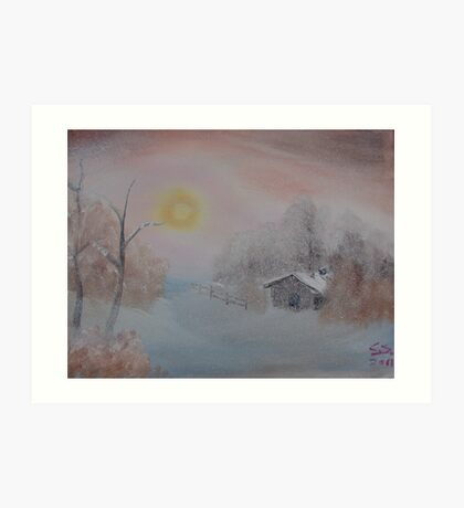 """Lighted Winter""  by Carter L. Shepard Art Print"