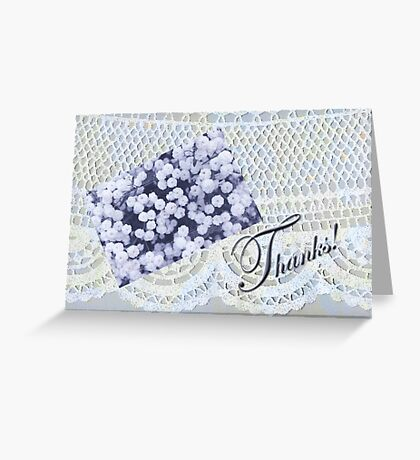 Lacy Doily Thank You Card Greeting Card