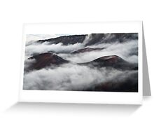 Misty Crater Greeting Card