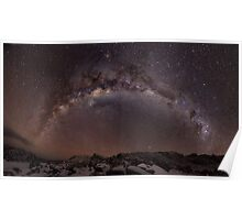 Milky way panorama - Ben Lomond Poster