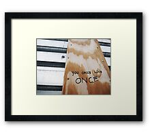 You Only Live Once! Framed Print