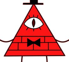 Red Bill Cipher Wheel Sticker