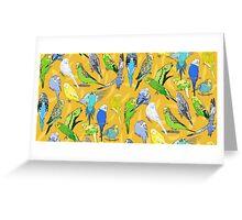Budgies - Yellow Greeting Card