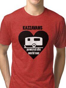 Kazzavan black on white print Tri-blend T-Shirt