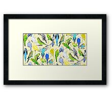 Budgies - Pale Framed Print