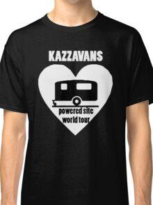 Kazzavans white with black print Classic T-Shirt