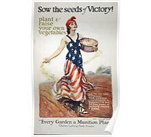 Sow the seeds of victory! Plant raise your own vegetables 002 Poster