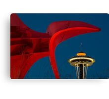 Olympic Sculpture Park and the Space Needle Canvas Print