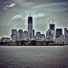 Standing in NJ Looking At NYC - The Freedom Tower by Jane Neill-Hancock