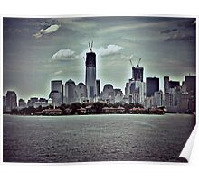 Standing in NJ Looking At NYC - The Freedom Tower Poster