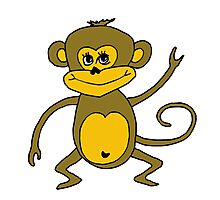Little Monkey - Year of the Monkey 2016 : Chinese Zodiac Sign Photographic Print