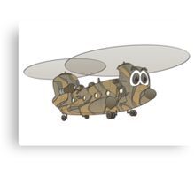 Chinook Helicopter Cartoon Canvas Print