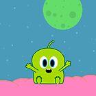 Green Alien by Bernard Mesa