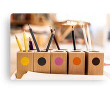 Pencil Colour Canvas Print